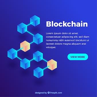 Streszczenie Tło Blockchain Premium Wektorów