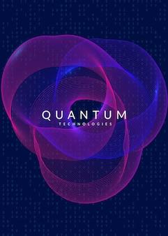 Streszczenie tło cyfrowe. sztuczna inteligencja, głębokie uczenie i koncepcja big data. technologia kwantowa. wizualizacja techniczna dla szablonu bazy danych. przemysłowe streszczenie tło cyfrowe.