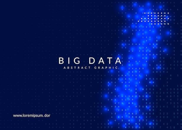 Streszczenie tło cyfrowe. sztuczna inteligencja, głębokie uczenie i koncepcja big data. technologia kwantowa. wizualizacja techniczna dla szablonu komunikacji. fraktal streszczenie tło cyfrowe.