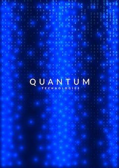 Streszczenie tło cyfrowe. sztuczna inteligencja, głębokie uczenie i koncepcja big data. technologia kwantowa. wizualizacja techniczna dla szablonu naukowego. fraktal streszczenie tło cyfrowe.