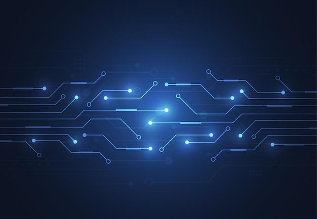Streszczenie tło cyfrowe z teksturą płytki drukowanej technologii. ilustracja elektronicznej płyty głównej. koncepcja komunikacji i inżynierii. ilustracja wektorowa