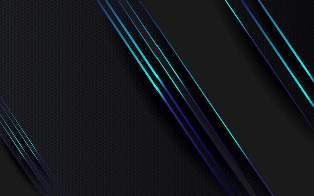 Streszczenie tło czarny i niebieski kolor nowoczesny minimalistyczny wygląd