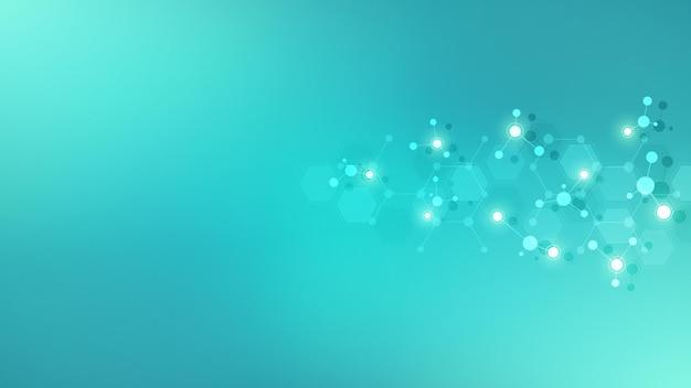 Streszczenie tło cząsteczek