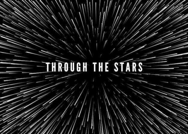 Streszczenie tło czasu i przestrzeni osnowy. podróżuj przez wszechświat - nadprzestrzeń. sci fi.