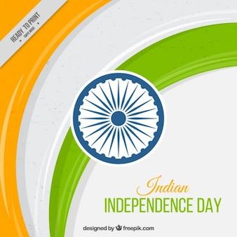 Streszczenie tło dzień niepodległości indii