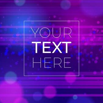 Streszczenie tło efekt bokeh i kopia przestrzeń. tło neonowe ultrafioletowe z miejscem na tekst.