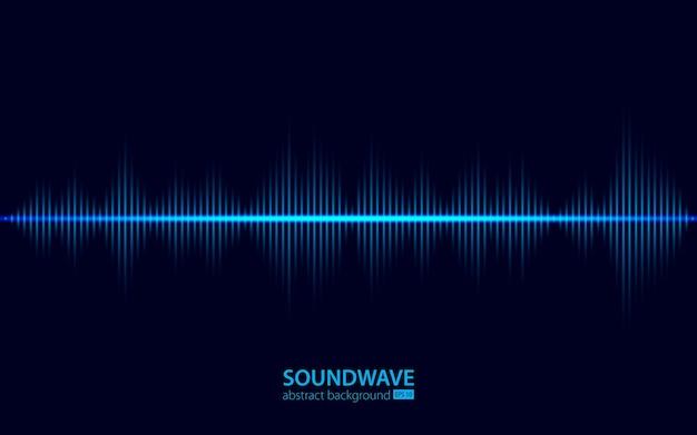 Streszczenie tło fali dźwiękowej