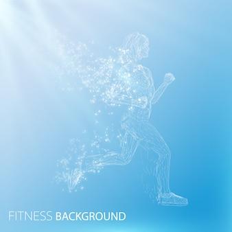 Streszczenie tło fitness