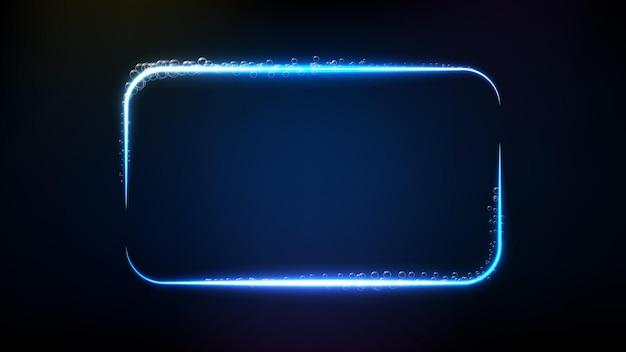 Streszczenie tło futurystycznej technologii bańki świecące ramki