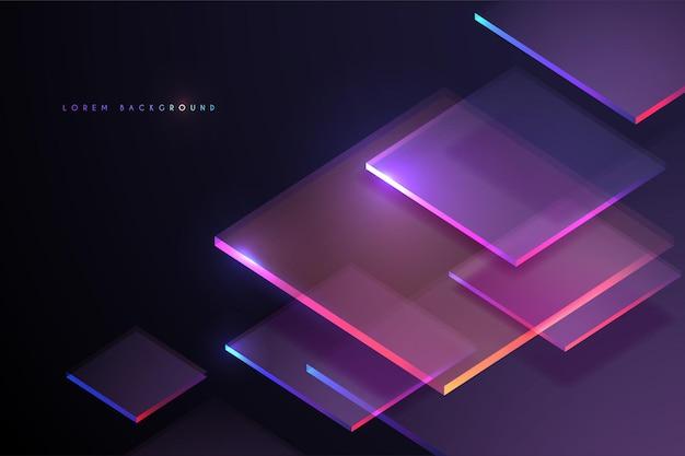 Streszczenie tło geometrii światła neonowego