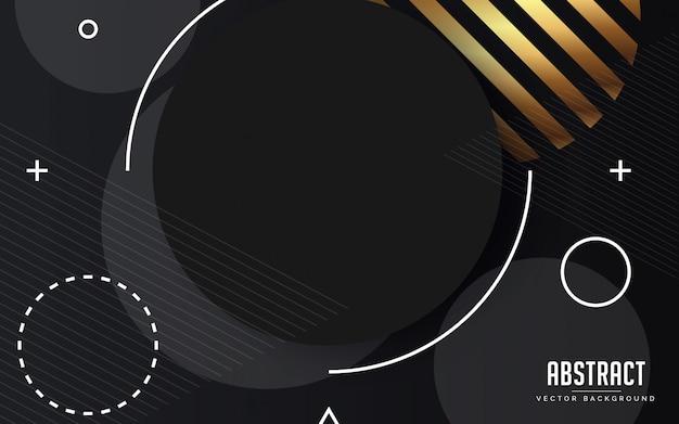 Streszczenie tło geometryczne czarno-szary i złoty kolor nowoczesny