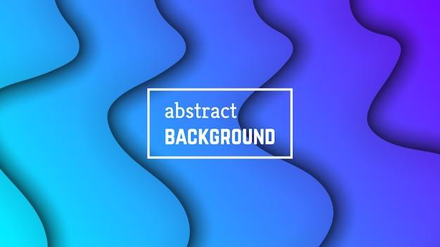 Streszczenie tło geometryczne fali minimalnej. kształt warstwy niebieskiej fali na baner, szablony, karty. ilustracja wektorowa.
