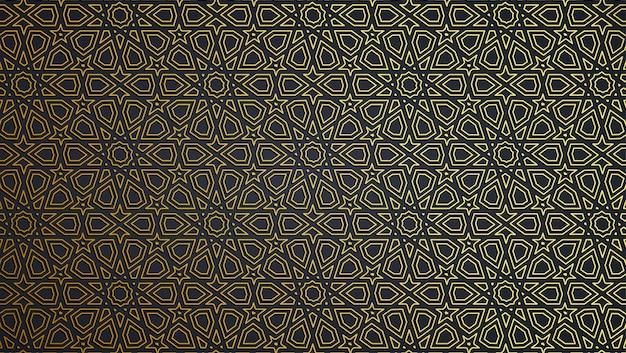 Streszczenie tło geometryczne islamskie