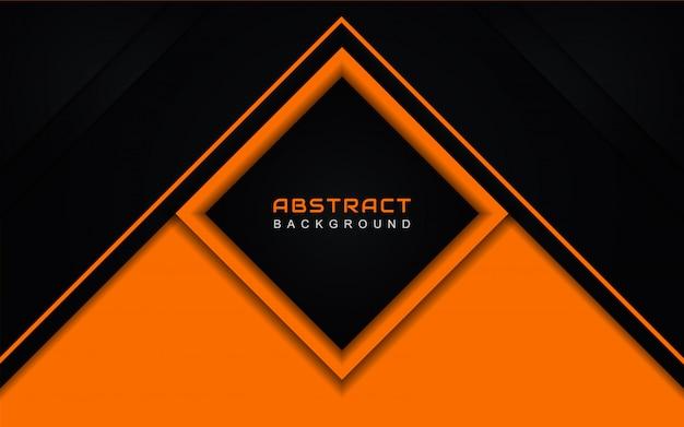 Streszczenie tło geometryczne w kolorze pomarańczowym i czarnym