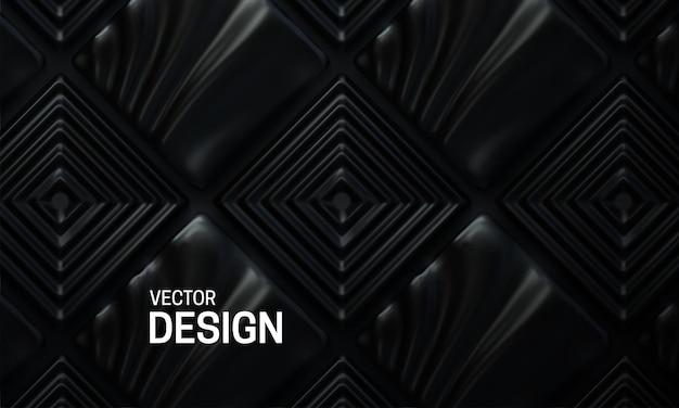 Streszczenie tło geometryczne z czarnymi kwadratowymi kształtami