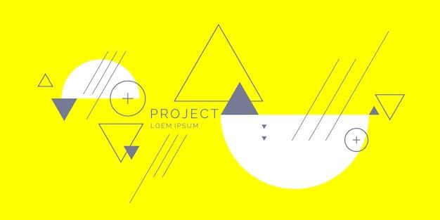 Streszczenie tło geometryczne. zaprojektuj plakat z płaskimi figurami. ilustracja wektorowa.