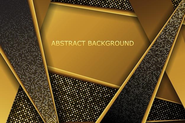 Streszczenie tło geometrycznej linii z efektem złotego brokatu