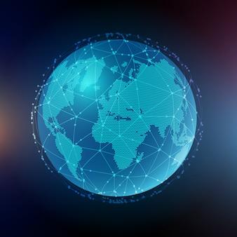 Streszczenie tło globalnej komunikacji