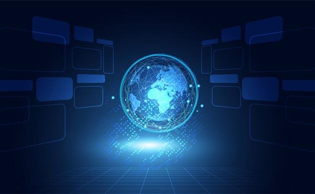 Streszczenie tło globalnej sieci