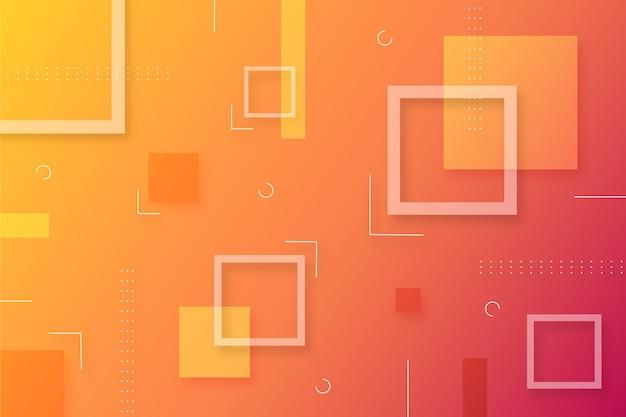 Streszczenie tło gradientowe z kształtami geometrycznymi