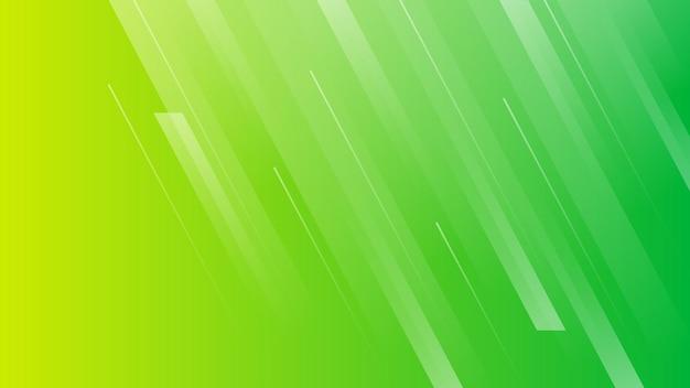 Streszczenie tło gradientowe z liniami. zielone geometryczne nowoczesne tło dla banerów, szablonów, plakatów. ilustracja wektorowa.