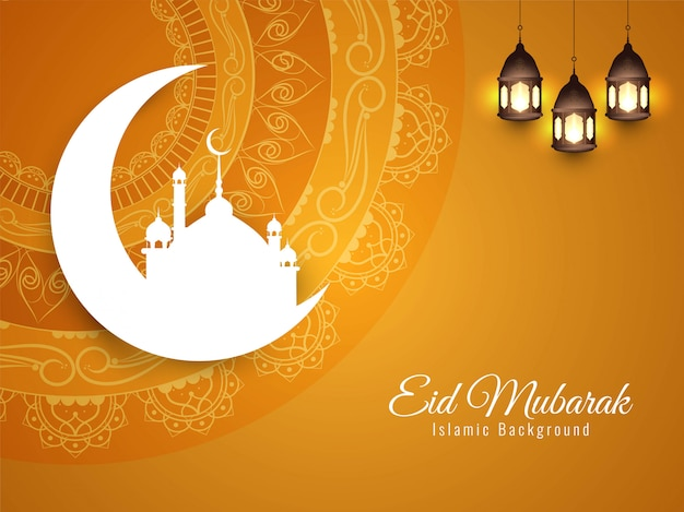 Streszczenie tło islamskiego eid mubarak