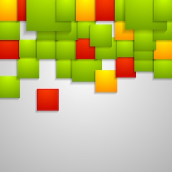 Streszczenie tło jasne kwadraty. projekt wektorowy