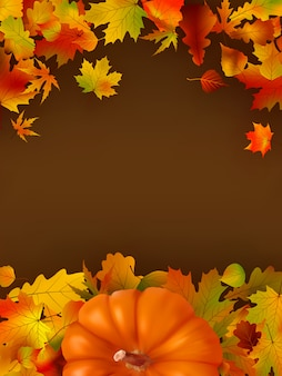 Streszczenie tło jesień z liści.