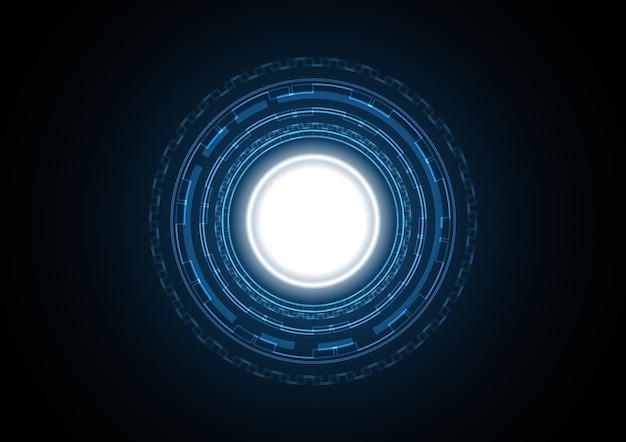 Streszczenie tło koło futurystyczny