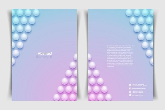 Streszczenie tło koło. minimalistyczny szablon transparentu.