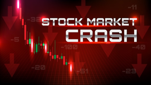 Streszczenie tło krachu na giełdzie ze wszystkimi sektorami