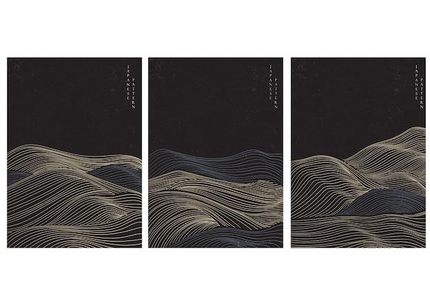 Streszczenie tło krajobraz z wzorem linii