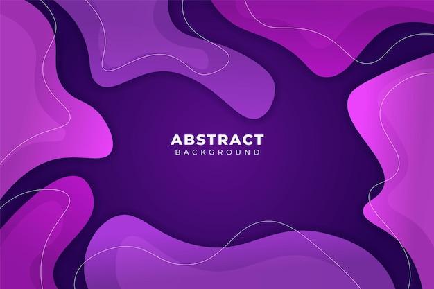 Streszczenie tło kształt stylu memphis miękkie gradient fioletowy