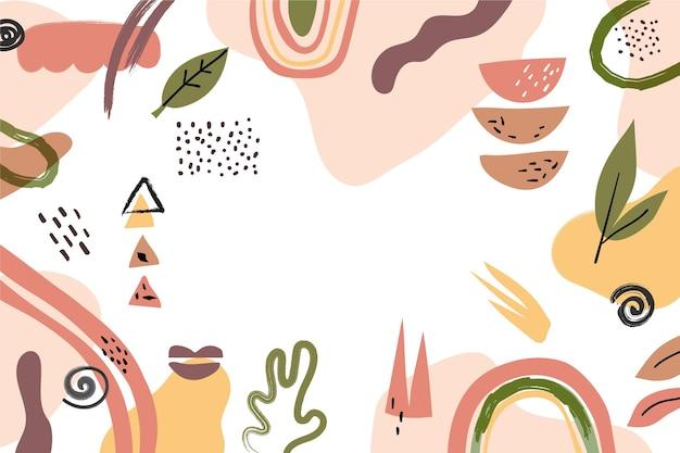Streszczenie tło kształtów organicznych
