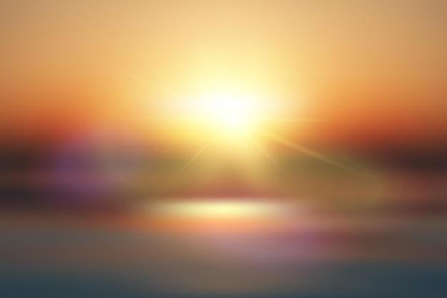 Streszczenie tło lato na plakat transparent ocean i niebo withsun blask i flary