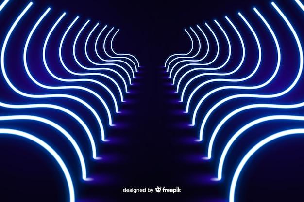 Streszczenie tło linie neon