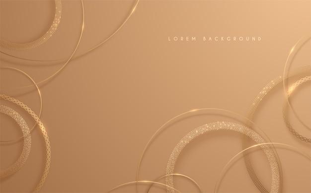 Streszczenie tło linie złote koło