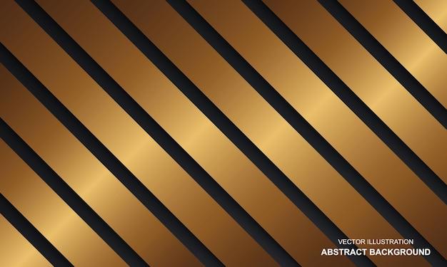 Streszczenie tło luksusowy czarny dop ze złotymi liniami nowoczesny design