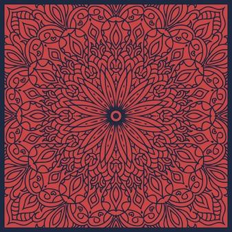 Streszczenie tło mandali. sznurowane ozdobne kwiaty z okrągłym ornamentem