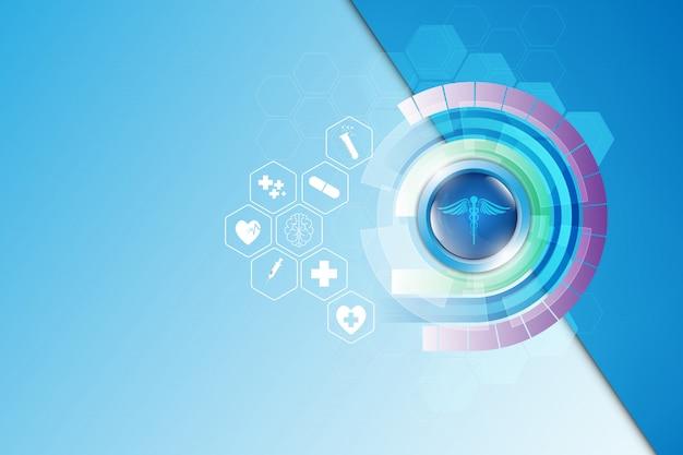 Streszczenie tło medyczne apteki szablon opieki zdrowotnej