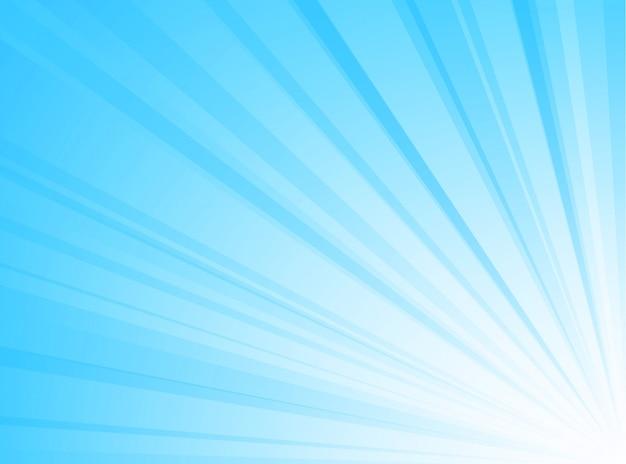 Streszczenie tło niebieskie i białe linie promieniowe tło