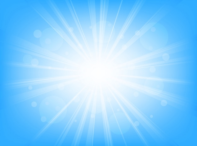 Streszczenie tło niebieskie linie promieniowe tła