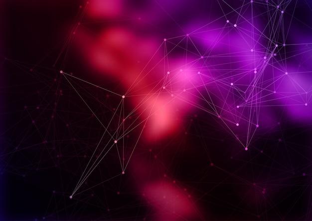Streszczenie tło nowoczesnej technologii z połączeniami sieciowymi