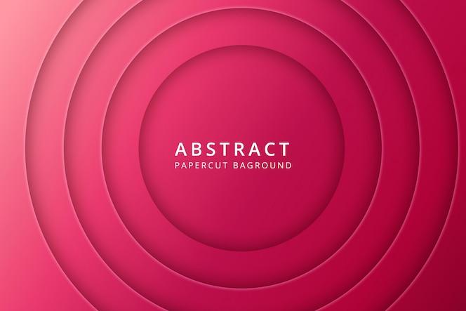 Streszczenie tło papercut. wzór tekstury w żywym, czerwonym, różowym kolorze