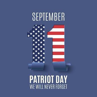 Streszczenie tło patriot day. narodowy dzień pamięci. ilustracja.