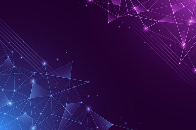 Streszczenie Tło Połączenia Sieciowego Premium Wektorów