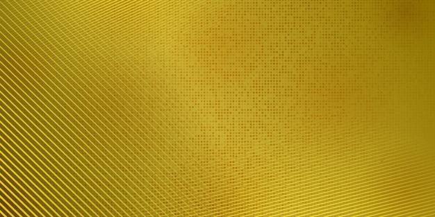Streszczenie tło półtonów wykonane z kropek i linii w żółtych kolorach