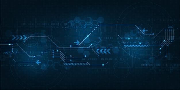 Streszczenie tło pracy technologii cyfrowej.