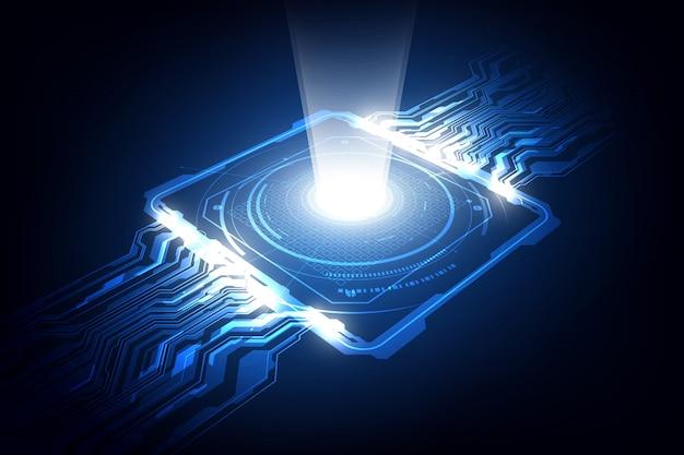 Streszczenie tło procesora chip technologii