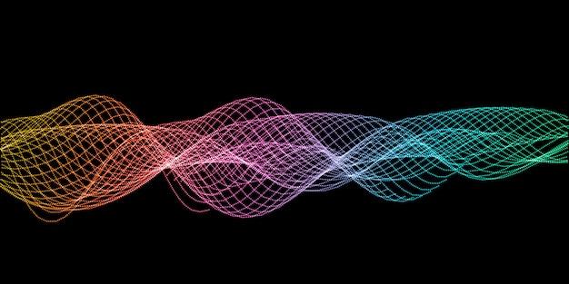 Streszczenie tło projektu fale dźwiękowe